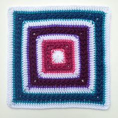 Stars Aligned, free pattern by Polly Plum features rounds of star stitch in this nice solid square motif.  . . . .   ღTrish W ~ http://www.pinterest.com/trishw/  . . . .   #crochet