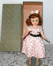 "10"" 1950's Madame Alexander Cissette Auburn Pink Make Up Day Dress  Box"