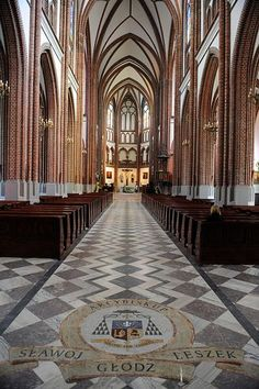 Interior of St. Florian's Cathedral, a Catholic church and historical landmark in eastern Warsaw, Poland.