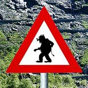 Watch out!! Warning sign for trolls!