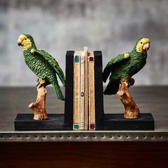 Parakeet Bookend // Graham & Green  #darwinday #evolution #animal #animalmagic #animalaccessories #homedecor #homeaccessories #animallight #animaldecor #interiordesign #myhome #homeinterior #grahamandgreen