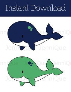 printable whale decorations whale baby shower by jenniqueprintshop