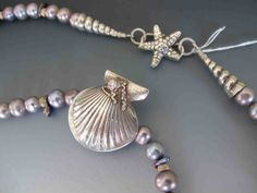 Oceans Away Fine Silver Ocean Themed Necklace Mermaid Jewelry, Peruvian Opal, Oceans, Mysterious, Pearls, Stone, Bracelets, Pretty, Silver