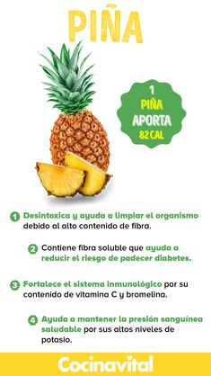 Healthy Facts, Healthy Tips, Healthy Recipes, Eating Pineapple, Pineapple Benefits, Delicious Fruit, Food Facts, Healthy Options, Fruits And Veggies
