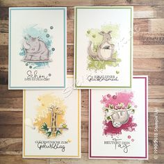Stamp light: birthday cards with Now it´s Wild and Artisan Textures , Stampin Up Karten, Karten Diy, Stampin Up Cards, Baby Cards, Kids Cards, Stampin Up Catalog, Kids Birthday Cards, Animal Cards, Stamping Up