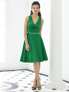 After six - 6647 - shown in shamrock matte satin.  also available in emerald