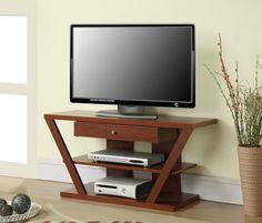 Oahu Modern Cherry TV Stand