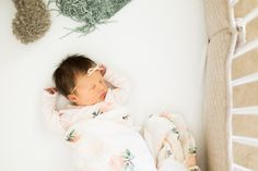 The sweetest baby with a head full of hair, a couple of adorable Little Unicorn swaddles and two loving parents made for a perfect newborn session! Lifestyle Newborn Photography, Girl Photography, Nursery Neutral, Newborn Session, Newborn Photographer, Toddler Bed, Unicorn, Blush, Green