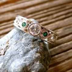 Vintage Style Hand Made Diamond and by AdziasJewelryAtelier