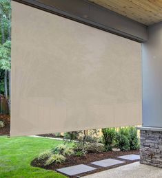 Deluxe Roll-Up Outdoor Solar Shades Outdoor Blinds, Outdoor Shade, Patio Shade, Outdoor Curtains, Outdoor Rooms, Porch Shades, Shade Umbrellas, House Shutters, Solar Shades