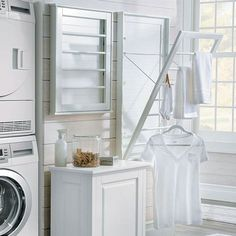 Find great deals for Wall Mount Laundry Rack Adjustable Clothes Drying Rod Space – Wasche falten Laundry Room Remodel, Laundry Room Cabinets, Laundry Room Organization, Laundry Room Design, Laundry Rooms, Basement Laundry, Mud Rooms, Laundry Storage, Small Laundry
