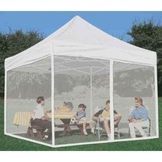 Impact Canopy 10x10 ft. Pop Up Canopy Tent Mesh Sidewalls Screen Room Mosquito Net - & 8 Best 10x10 Canopy With Sides 10x20 Canopy Sidewalls 12x12 Pop Up ...
