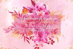 Be my Valentine - watercolor set by Charushella on @creativemarket