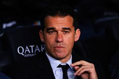 Head coach Luis Garcia Plaza of Getafe CF looks on during the Copa del Rey round of 16 first leg match between FC Barcelona and Getafe CF at Camp Nou on January 8, 2014 in Barcelona, Catalonia.