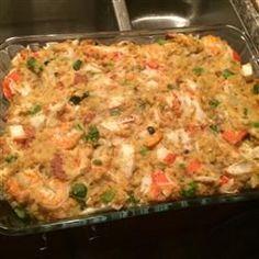 Cajun Recipes, Seafood Recipes, Cooking Recipes, Seafood Casserole Recipes, Shrimp Casserole, Crab Cake Recipes, Crawfish Recipes, Chicken Recipes, Haitian Recipes