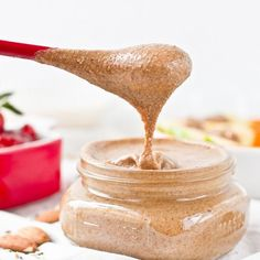 Maple Cinnamon Almond Butter with Hemp, Flax, and Chia Seed   Read more: http://ohsheglows.com/2011/03/13/maple-cinnamon-almond-butter-with-hemp-flax-and-chia-seed/#ixzz3ikIEhlHk