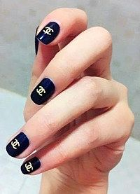 11 Best Chanel Nail Art Images In 2015 Chanel Nail Art Cute Nails