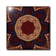 """Adiemus Mandala - 12 Inch Ceramic Tile by Houk. $22.99. Dimensions: 12"""" H x 12"""" W x 1/4"""" D. High gloss finish. Clean with mild detergent. Image applied to the top surface. Construction grade. Floor installation not recommended.. Adiemus Mandala Tile is great for a backsplash, countertop or as an accent. This commercial quality construction grade tile has a high gloss finish. The image is applied to the top surface and can be cleaned with a mild detergent."""