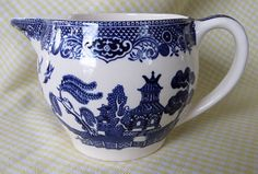 Antique Johnson Bros. Creamer  Blue Willow Pattern-Made in