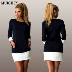 Find More Dresses Information about 2016 New Summer Women straight Vintage Candy colors pockets Mini Dress o neck Casual Sexy party Dresses vestido de festa,High Quality dresses dolls,China dress up games wedding dress Suppliers, Cheap dress up a black dress from muiches well done on Aliexpress.com
