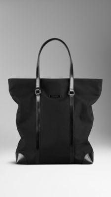 Cotton Gabardine Tote Bag | Burberry