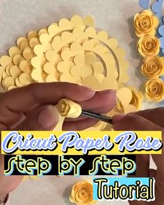 Paper Flowers Discover Cricut Paper Rose Step by Step Tutorial This free paper flower template coupled with the step by step how to make a paper rose video will teach you how to make a paper rose like a pro. Rolled Paper Flowers, Paper Flowers Craft, How To Make Paper Flowers, Giant Paper Flowers, Diy Paper Roses, Paper Flower Wall, Paper Flower Backdrop, Free Paper Flower Templates, Paper Flower Tutorial