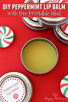 Are you planning to give homemade gifts for Christmas this year? These DIY Peppermint Lip Balm Tins make wonderful gifts for everyone on your list!