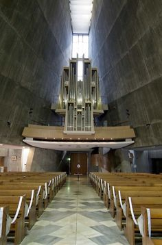 Sanctuary. St. Mary Cathedral, Tokyo.  Archietect: Kenzo Tange.