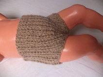 kurze Babyhose Wolle Gr. 62/68