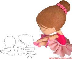 Bobbin Lace Patterns, Doll Sewing Patterns, Felt Patterns, Felt Dolls, Baby Dolls, Elephant Balloon, Quiet Book Templates, Felt Crafts Diy, Felt Baby