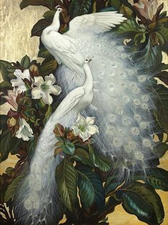 Cheap oil paintings birds, Buy Quality paintings bird directly from China white peacock Suppliers: Art large Oil painting birds white peacocks on flowers branch - canvas Peacock Painting, Peacock Art, Oil Painting Abstract, Figure Painting, Painting Trees, Painting People, Painting Art, Watercolor Painting, Oil Painting Pictures