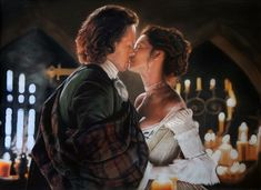 A donation to an Outlander-based charity auction. Chalk pastel (General's, Carbothello, Prisma Nupastel) The Wedding - Outlander Historical Romance, Historical Fiction, Outlander Clothing, Outlander Wedding, Jaime Fraser, Drawn Art, Pastel Portraits, Outlander Tv Series, Sam Heughan Outlander