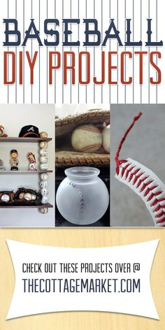 Baseball DIY Projects for the baseball fans in your life!  Girls and Guys!