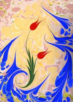 turkish art of ebru Ebru Art, Great Works Of Art, Turkish Art, Marble Art, Amazing Drawings, Bookbinding, Islamic Art, Art Forms, New Art