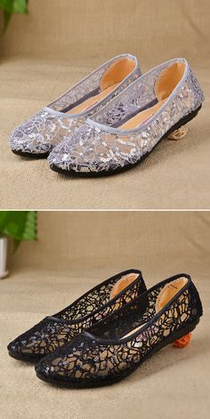 Paillette Mesh Breathable Flat Slip On Lazy Loafers Prom Shoes 1c89e631e4c