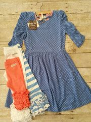 """Our Favorite Matilda Jane """"Friends Forever"""" Combinations – REAGAN LAP DRESS with Soft White, Coral or Chasing Cornflowers SSB Icings #sewsassy #matildajane"""