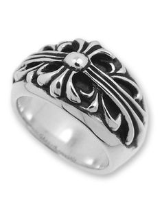 3966997099d7 Cheap Chrome Hearts Floral Cross Ring 925 Silver On Sale Grand Cross