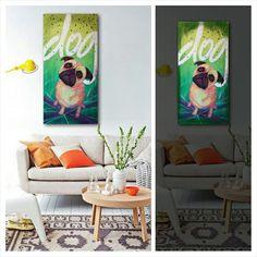 #dog #art #illustration #brightart #deco #diegorodry  Bright Art, Dog Art, Deco, Illustration, Instagram Posts, Painting, Painting Art, Decor, Paintings