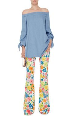 Mariel Jeans With Ken Scott Floral Print by SEAFARER Now Available on Moda Operandi