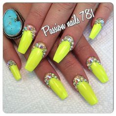 Neon yellow with gems