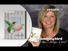 How to use Multi-Step Stamps to make a Hummingbird WOW Card featuring Stampin Up Picture Perfect - YouTube