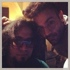 Shahin Najafi with Majid Kazemi
