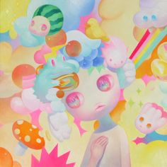 ARTIST: So Youn Lee (US/Korea) - Pretty Pastels |  See More: https://society6.com/product/cherish-6q2_print?curator=yellowmenace#s6-3359849p4a1v1 |  #Yellowmenace #KoreanArt #painting #contemporaryart #Society6