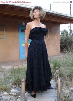 Vintage 1950s Strapless Evening Gown Party Dress by bycinbyhand, $225.00
