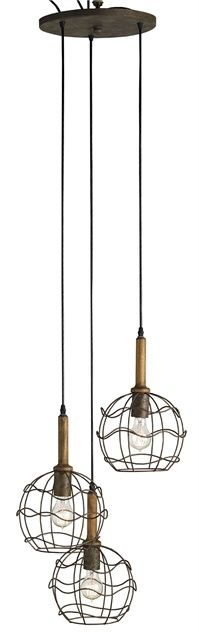 Sibley Trio Pendant Light | Currey and Company