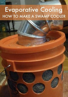 Evaporative Cooling – How To Make A Swamp Cooler...http://homestead-and-survival.com/evaporative-cooling-how-to-make-a-swamp-cooler/