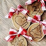 The 36th AVENUE | Burned Wood Christmas Ornaments | The 36th AVENUE
