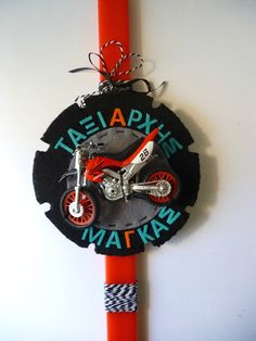 Irene & Nicki Crafts: Motorcycle Easter Candle Hi everyon. Easter Candle, Pinterest For Business, Craft Business, Irene, Clock, Motorcycle, Etsy Shop, Candles, Halloween
