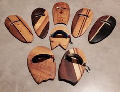 Bodysurf Wood quiver, all made with recycled wood and all natural finish.