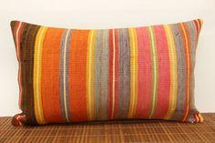 Oriental Lumbar kilim pillow cover 14 x 24 by kilimwarehouse, $62.00